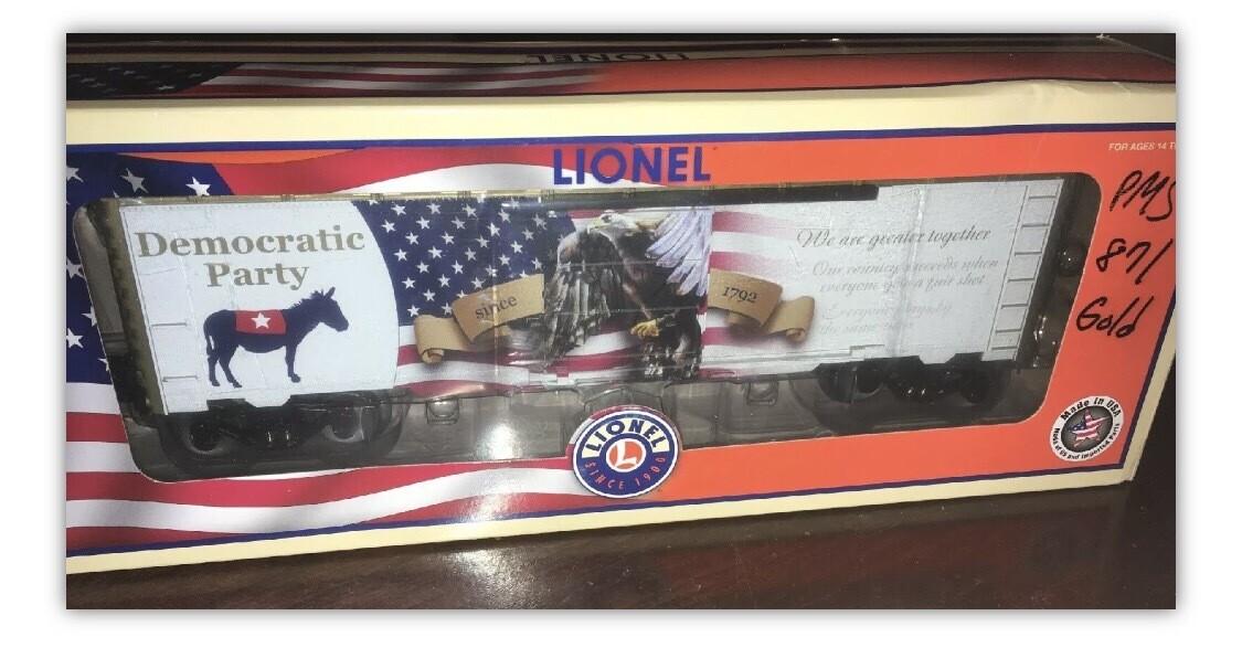 Lionel Democratic Party Boxcar 2016 Boxcar o gauge train 6-83413 NIB in ship box