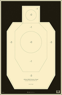 Action Target IDPA Paper
