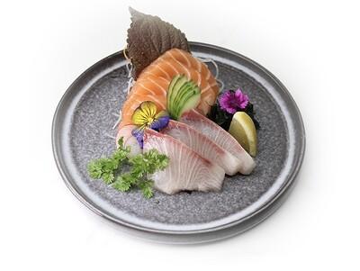 Salmon & Kingfish Sashimi (7 pcs)