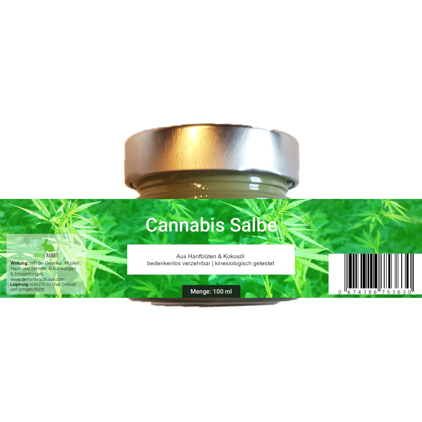 Vegane Cannabis Salbe