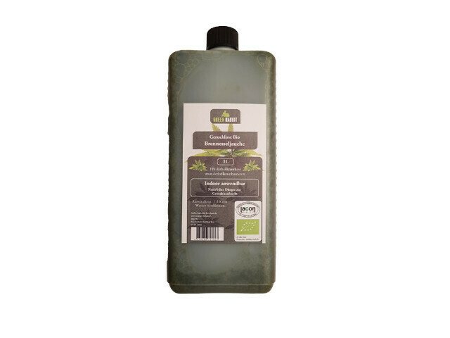 Odourless stinging nettle liquid manure