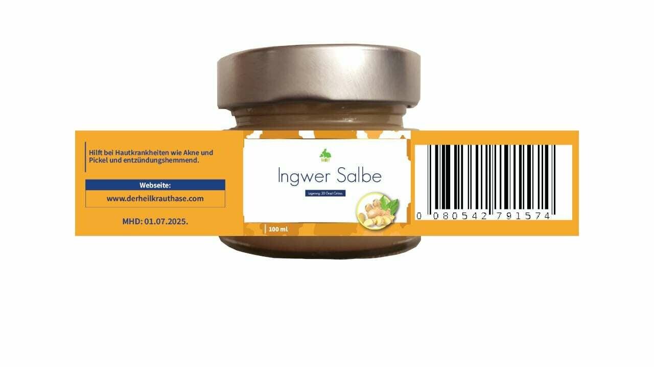 Vegane Ingwer Salbe