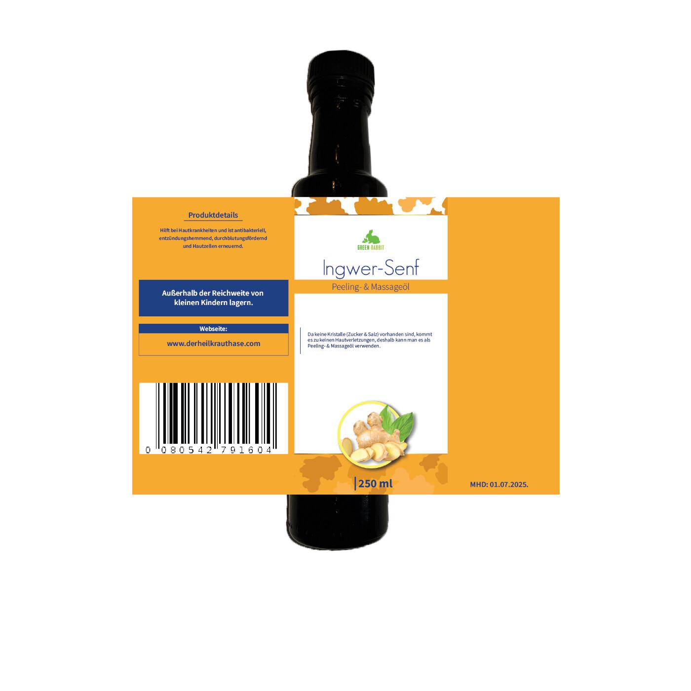 Veganes Ingwer - Senf Öl