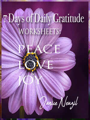 7 Days of Daily Gratitude worksheets