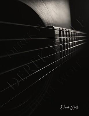 Black & White Acoustic Guitar