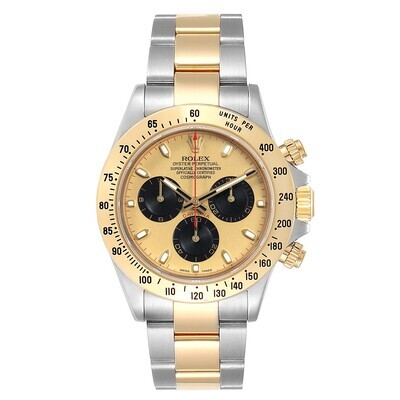 AAA QUALITY Cosmograph Daytona 116523 40Mm Paul Newman Dial Steel Two Tone Yellow Gold