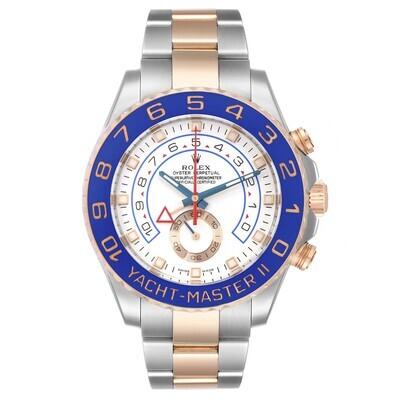 AAA QUALITY Yacht-Master II 44Mm 116681 Everose Gold Blue Ceramic Bezel