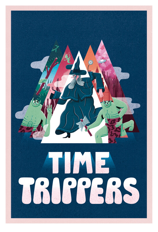 Time Trippers A3 giclée print