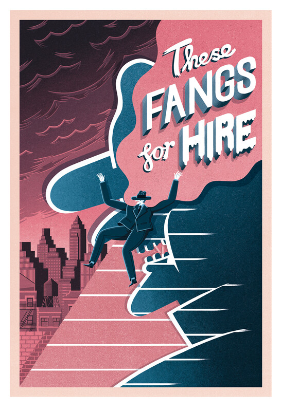 These Fangs For Hire A3 giclée print