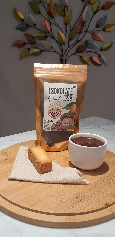 Lorenzo Farm's 100% Pure Cacao Tsokolate.