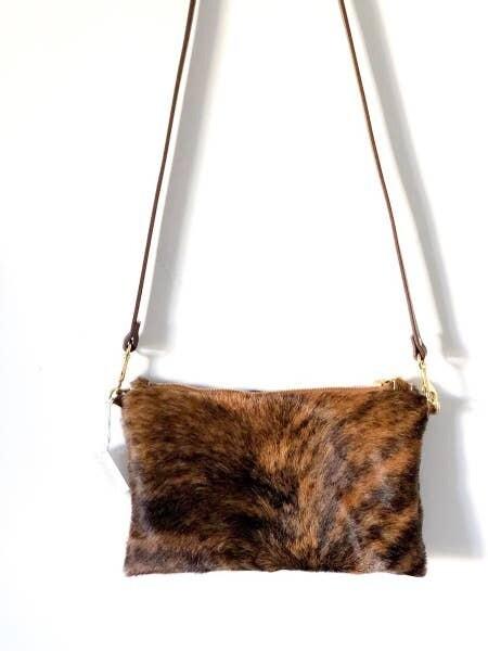 Brindle Cowhide Shoulder Bag