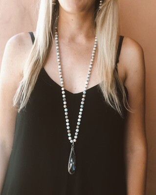 Crystal Drop Stone Necklace