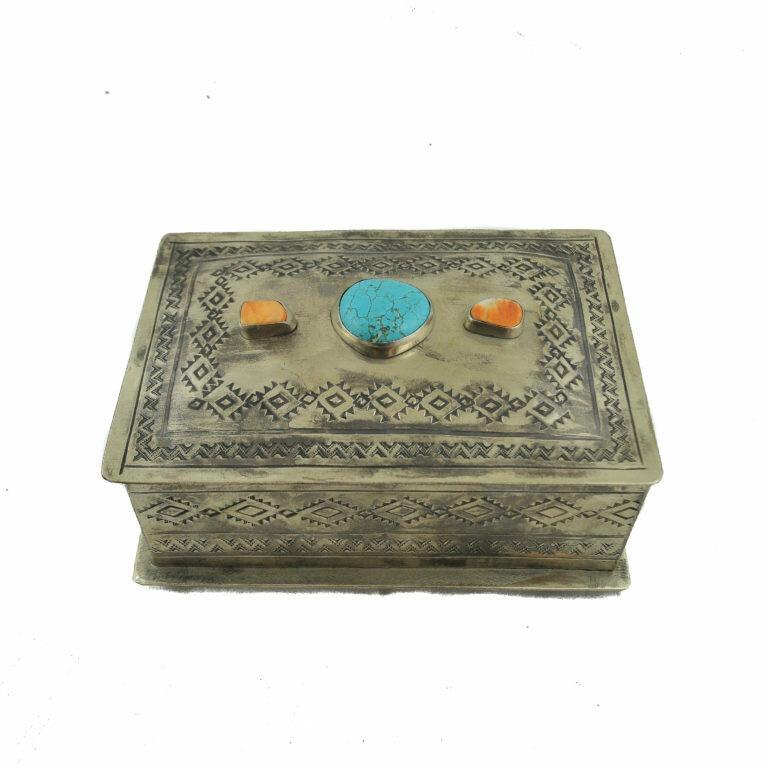 Multi Stone Stamped Box