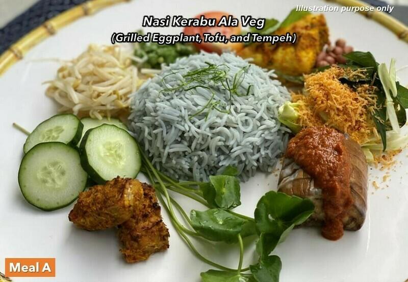 20 Mar (SAT) [Nasi Kerabu Ala Veg   Deconstructed Dhall Curry   Claypot Braised Veg]