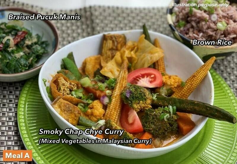 21 Mar (SUN) [Chap Chye Curry   Peppers Tofu Umami   Pokebowl]