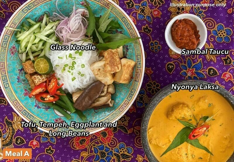 13 Mar (SAT) [Nyonya Laksa   Poke Bowl   Chap Chye Curry   Superfood Salad]