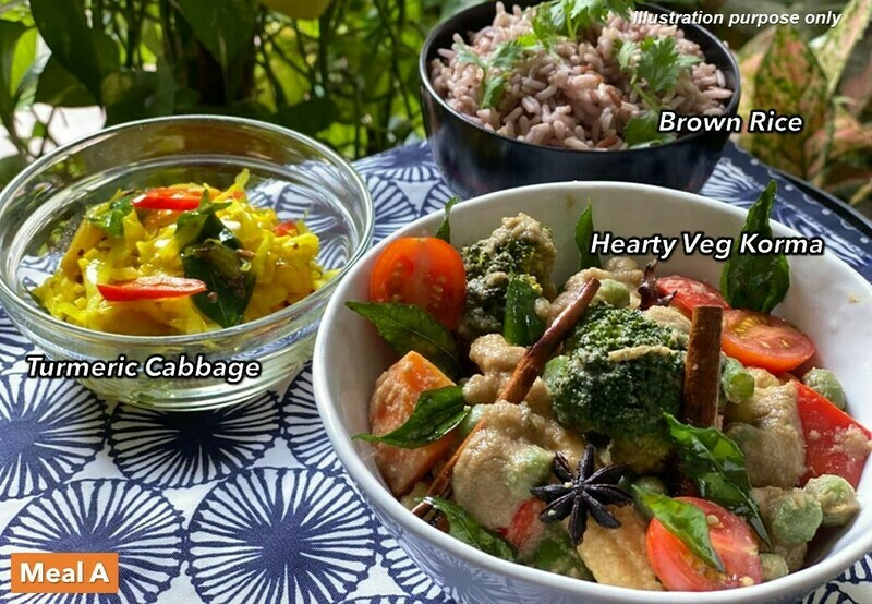 19 Mar (FRI) [Mum's Korma   Bangers & Mash 2.0   Chap Chye Curry   Pokebowl]