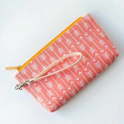 Wildflower Wristlet - Coral Arrows