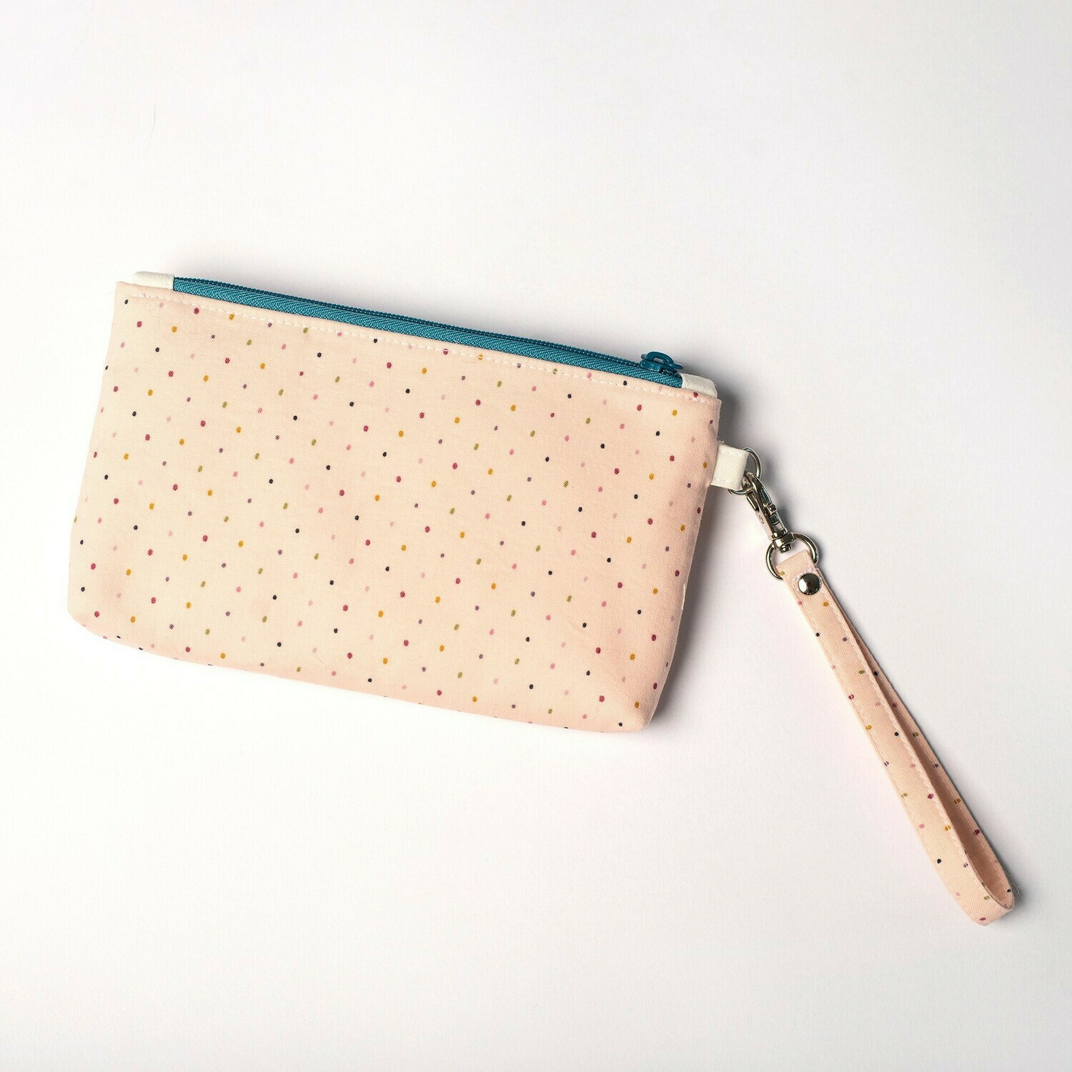 Wildflower Wristlet - Blush Dots