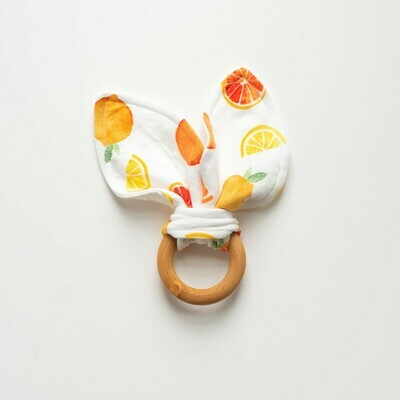 Spring Snow Bunny Teether - Citrus
