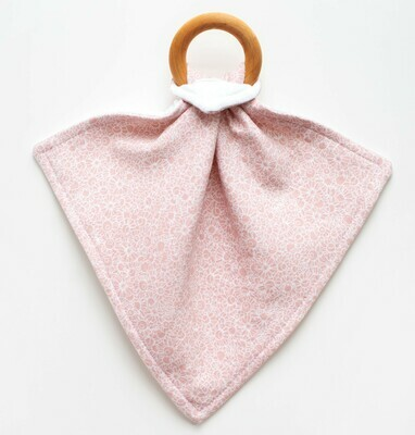 Orange Blossom Teething Lovey - Pink Floral
