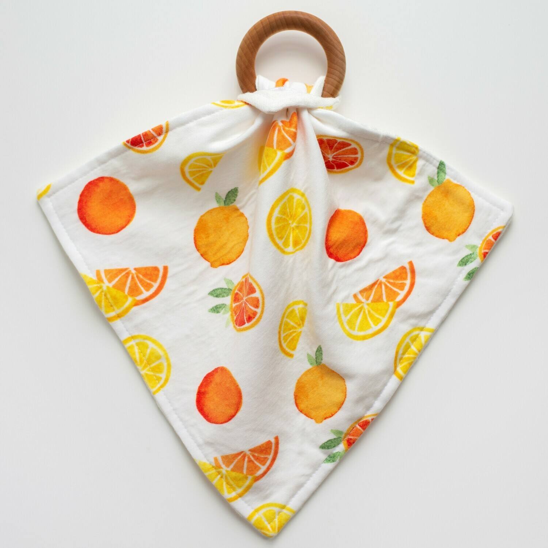 Orange Blossom Teething Lovey - Citrus