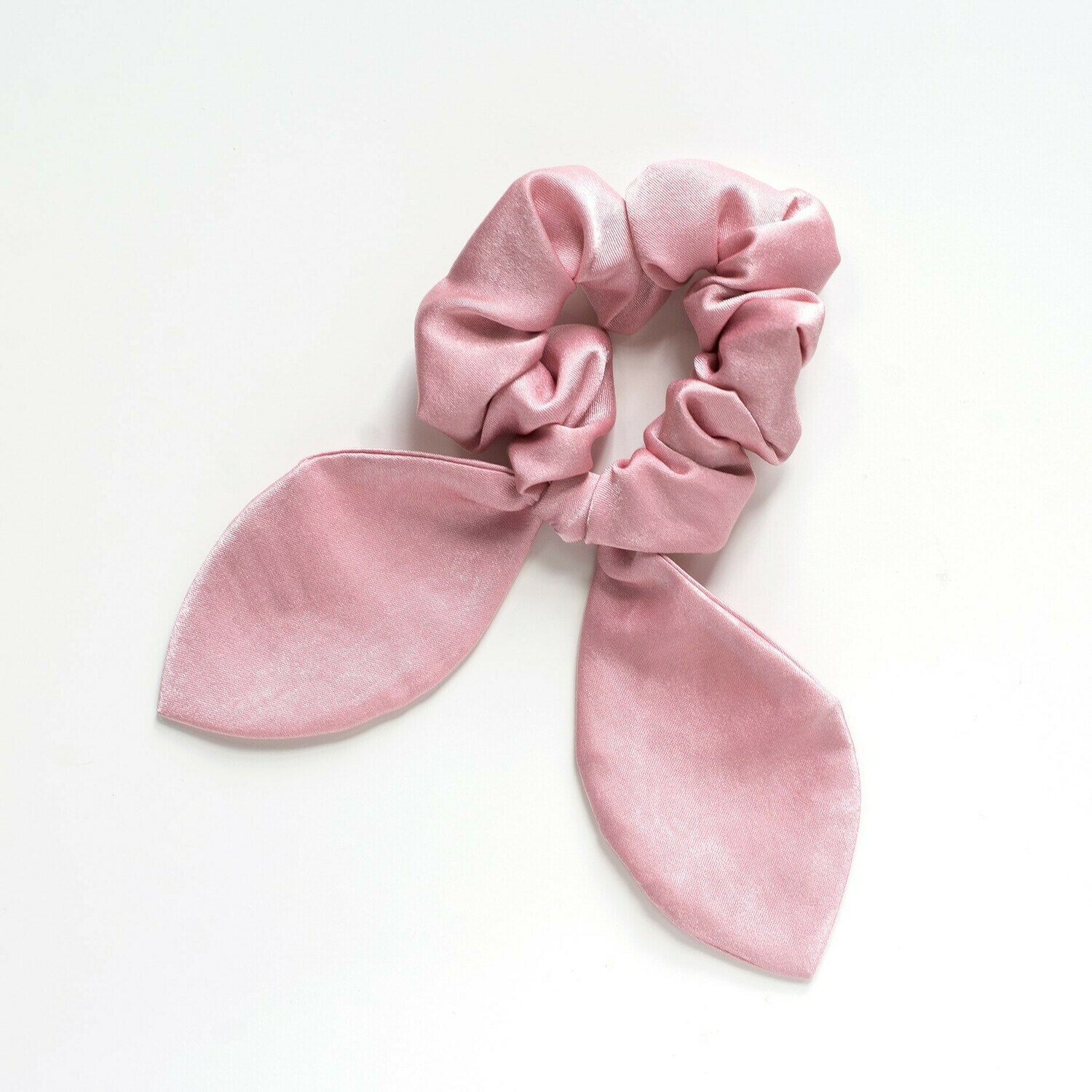 Georgia Belle Scrunchie - Satin - Shimmery Pink