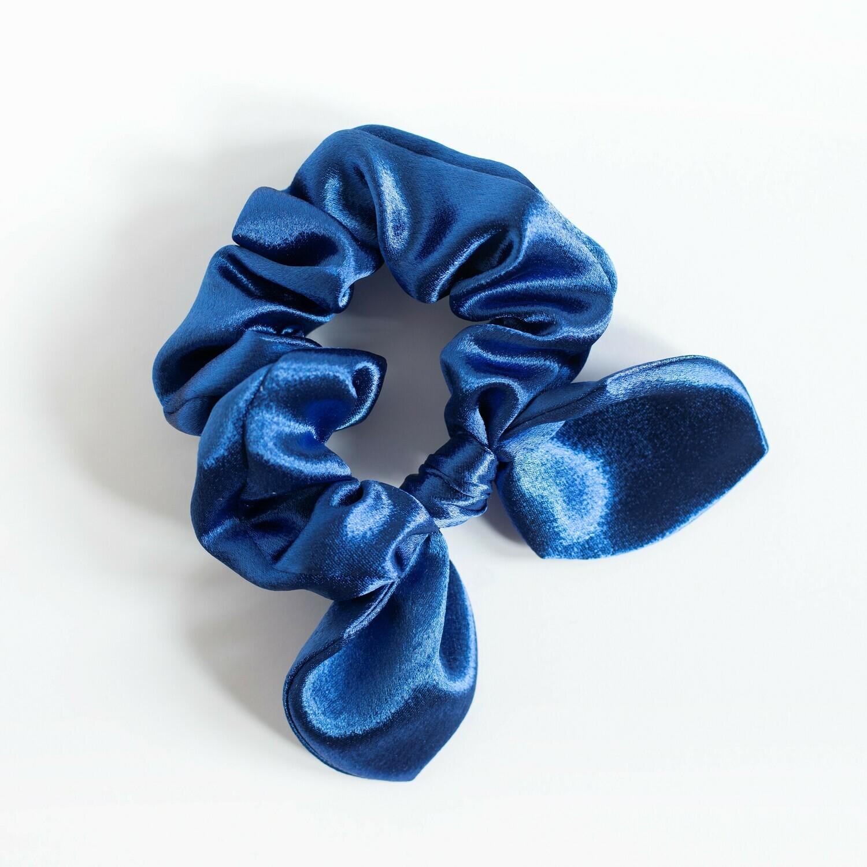 Georgia Belle Scrunchie - Satin - Blue