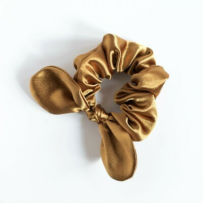 Georgia Belle Scrunchie - Satin - Gold