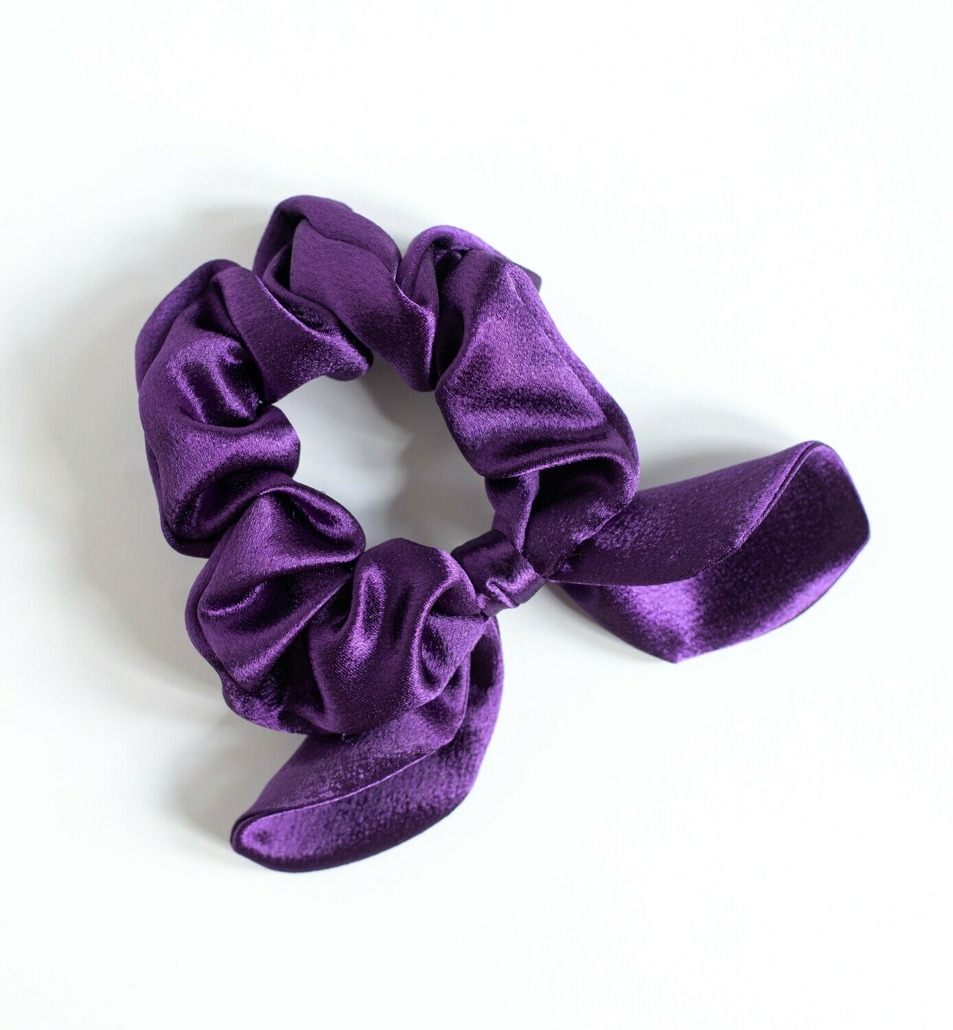 Georgia Belle Scrunchie - Satin - Purple