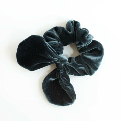 Georgia Belle Scrunchie - Velvet - Slate Blue
