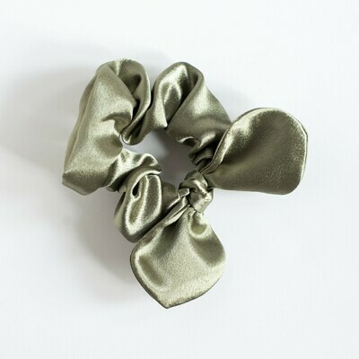 Georgia Belle Scrunchie - Satin - Smoke