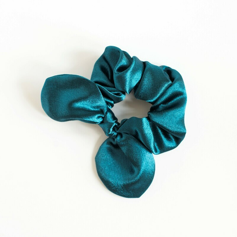Georgia Belle Scrunchie - Satin - Teal