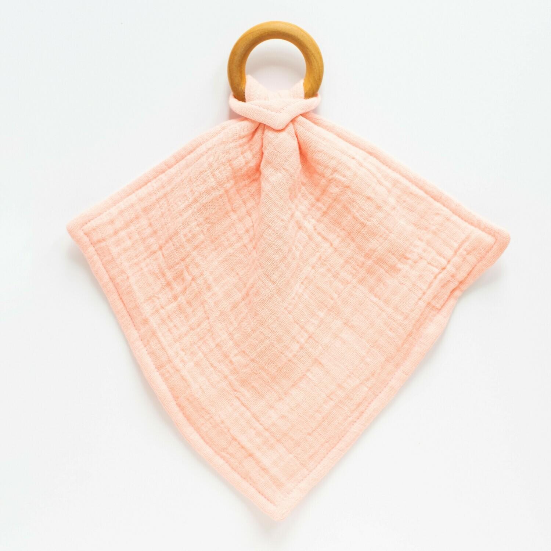 Orange Blossom Teething Lovey - Coral Gauze