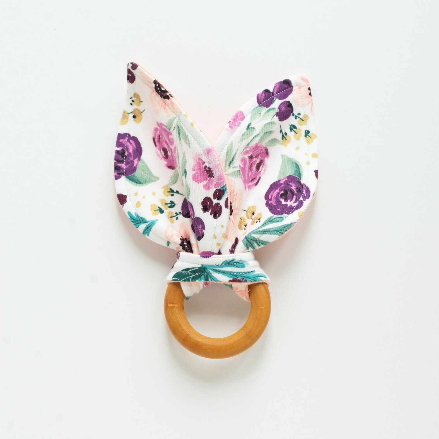 Spring Snow Bunny Teether - Floral