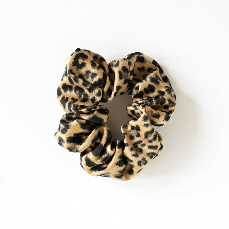 Sunland Scrunchie - Satin - Leopard