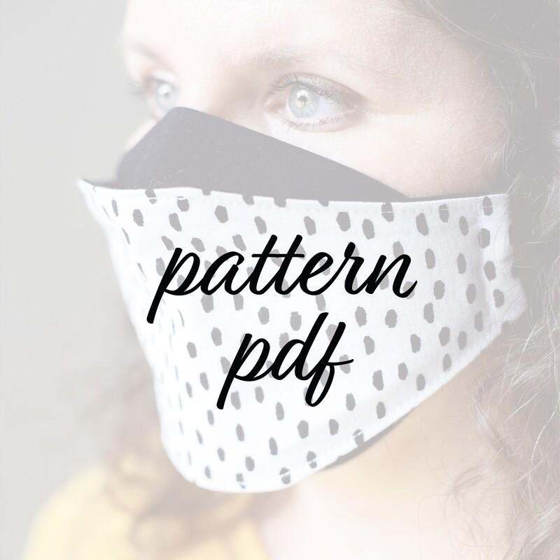 Face Mask Sewing Pattern - PDF