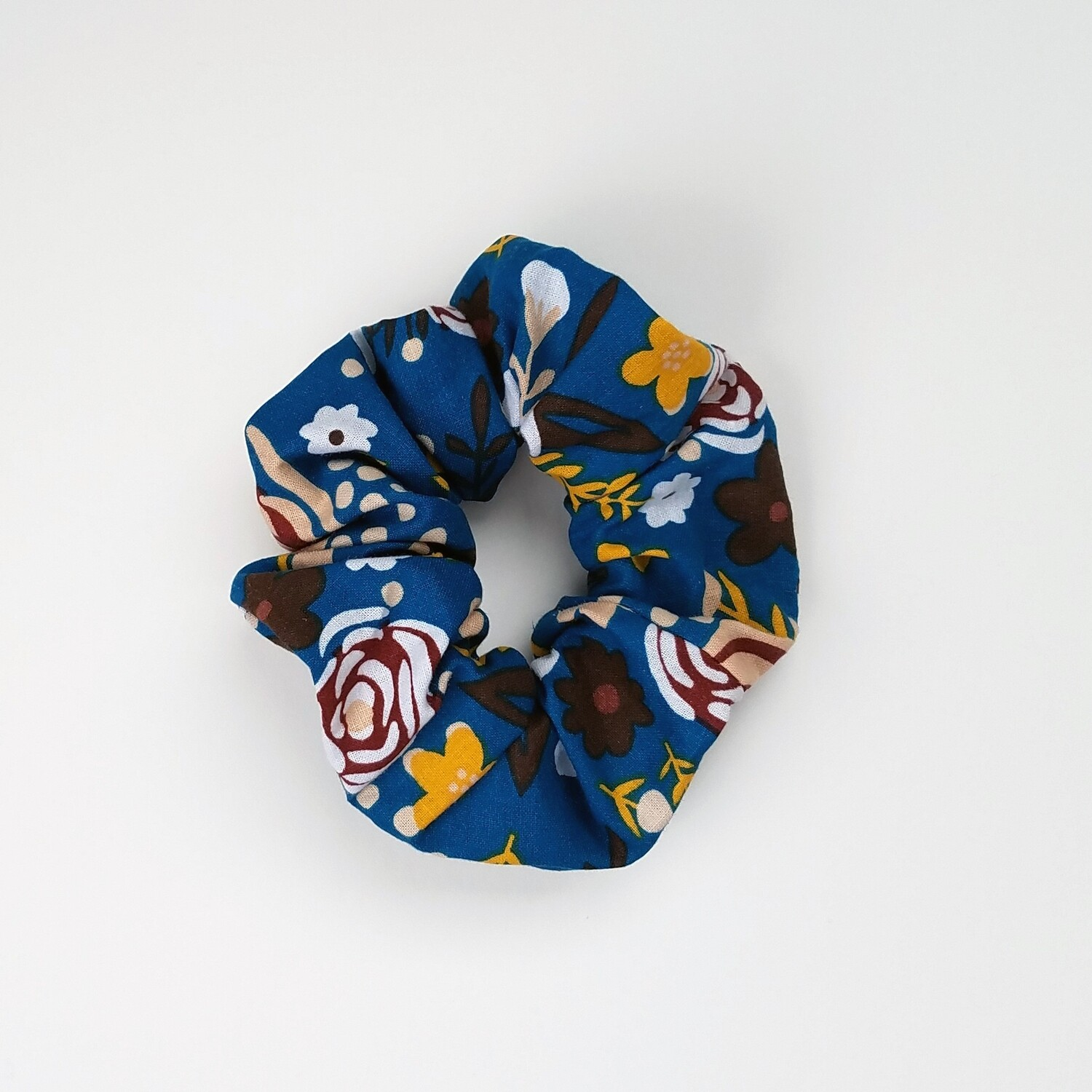 Sunland Scrunchie - Cotton - Blue Floral