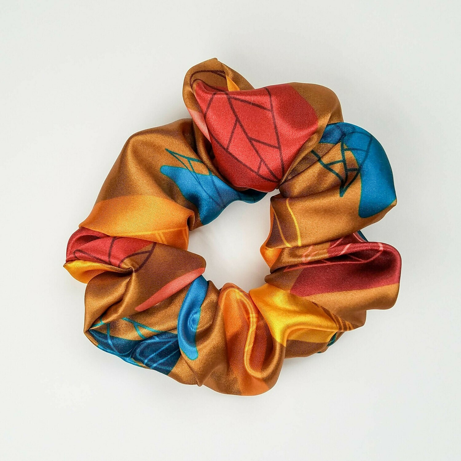 Sunland Scrunchie - Satin - Fall Leaves