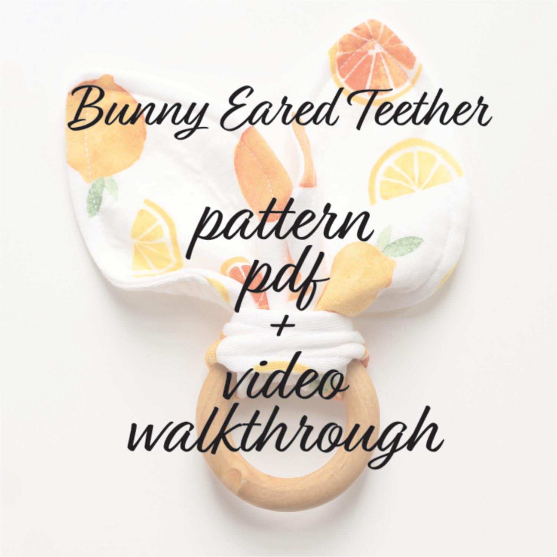 Bunny Ear Teether PDF Pattern
