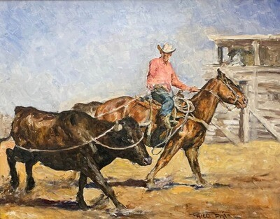 Fried, Pál - Cowboy and Steer
