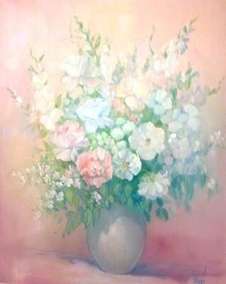 Zenda, Pat - Vase and Flowers in Pink