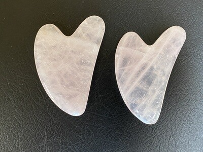 Rose Quartz Gua Sha Lymphatic Massage Tool