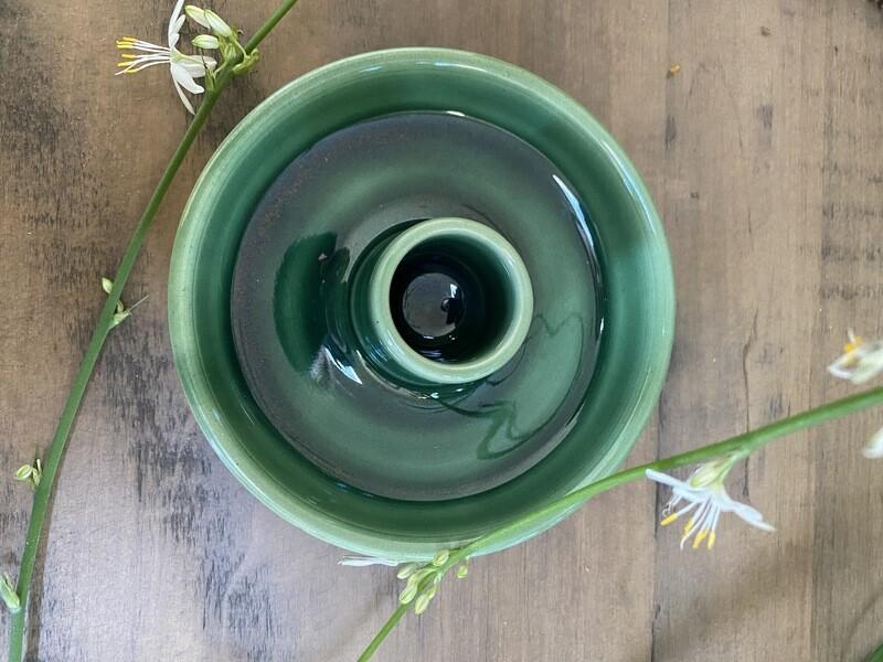 Green Ceramic Palo Santo Holder (for Ecuadorian pieces)