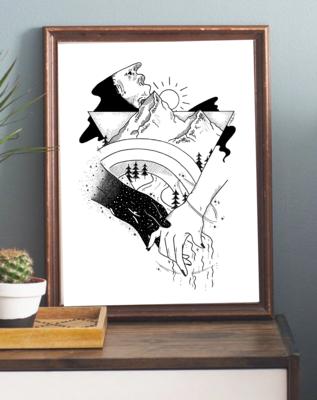 NZ PRIDE Art Print