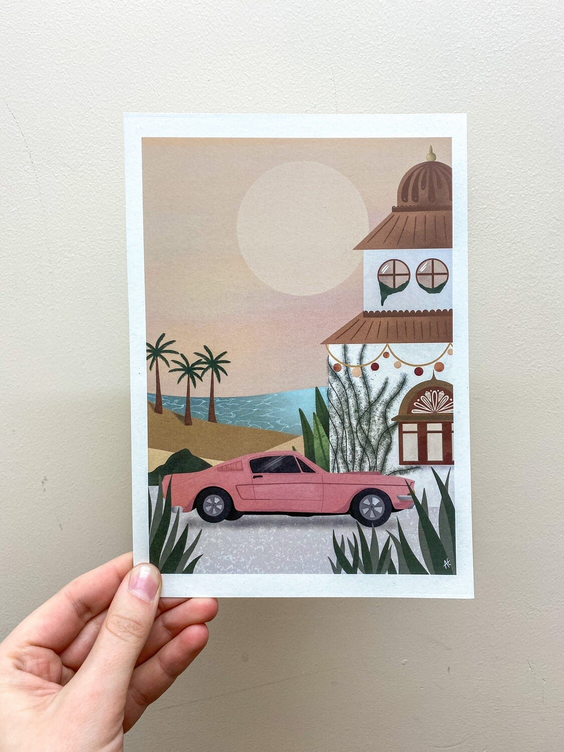 SUNSET IN MOROCCO Art Print - choose car colour