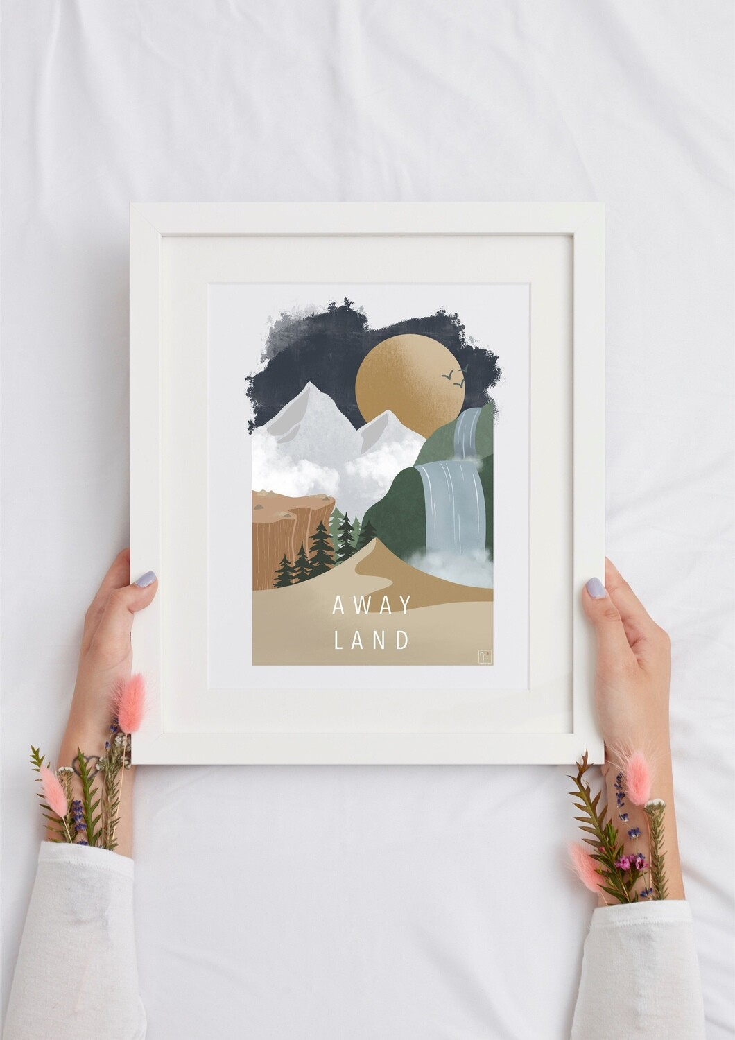 AWAY LAND Art Print