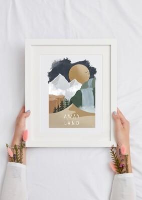 AWAY LAND Art Print