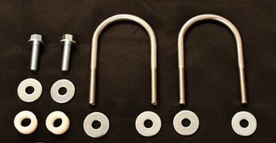 "No-Lo Designs U-bolt Kit For Front Skid Plate w Traxda 3.5"" Lift"