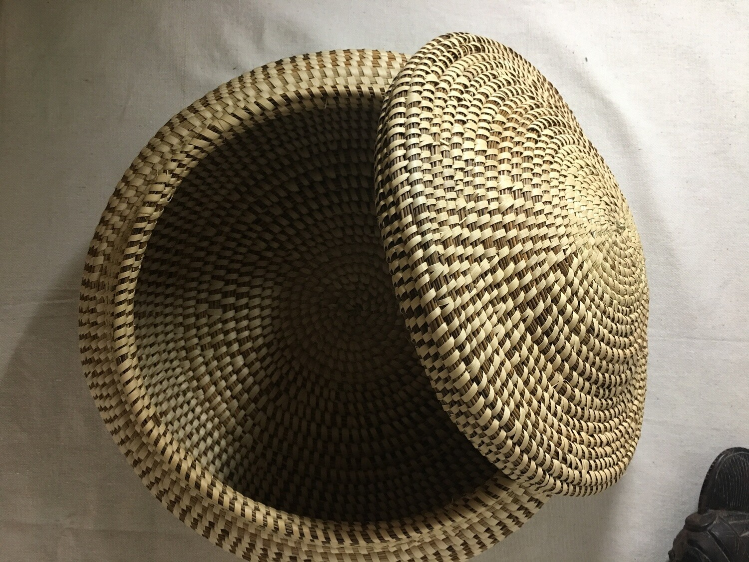 Sweetgrass Covered Basket